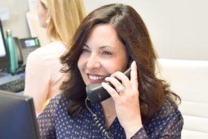 team member on the telephone