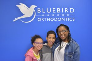 Orthodontic patients smiling